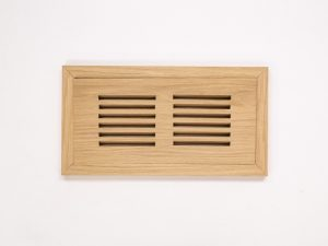 Pre-Varnished White Oak Flush Mount Vent