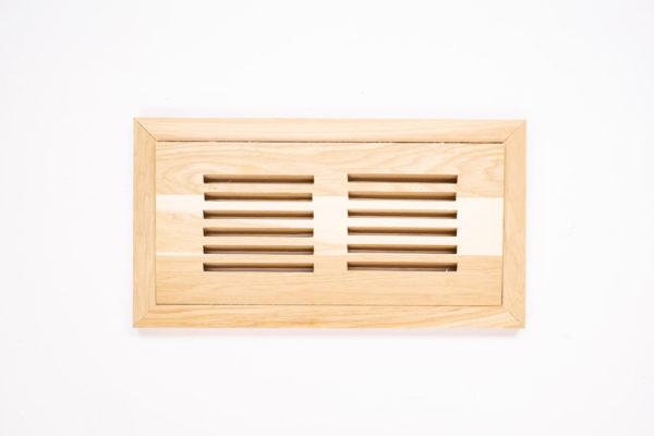 Grille de ventilation encastrée en hickory