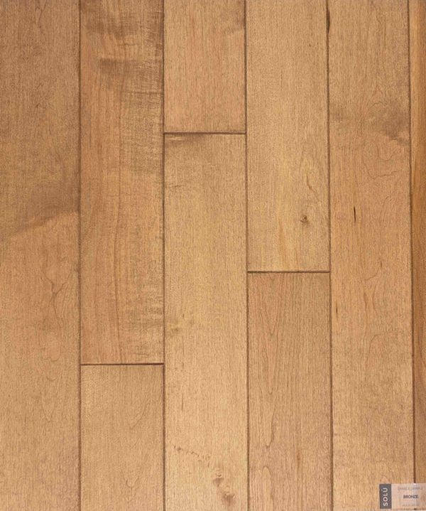 Natural select grade maple floor, oiled Bronze color