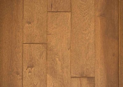 Natural select grade maple floor, oiled Sable color.