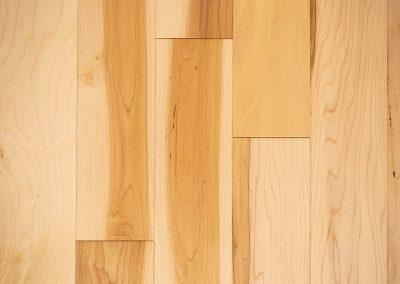 Natural select grade maple floor, varnished Natural color