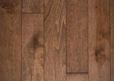 Natural select grade maple floor, varnished Solstice color