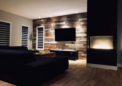 Mixed Color Barn Wood Wallcovering
