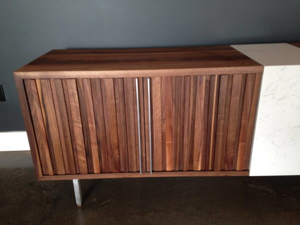Canterbury Black Walnut and Cambria Quartz Credenza