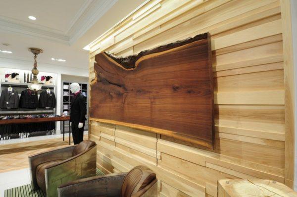 Mur 3D en bois