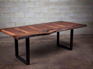 La Transversé Black Walnut Dining Room Table