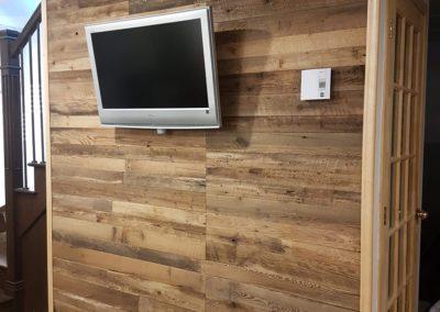 Mur de bois de grange brun | cuisine