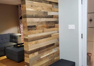 Entrance wall_ brown barn wood box